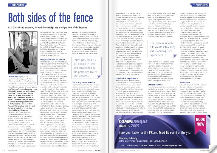 Pharma Marketing Article May 2009 Mg