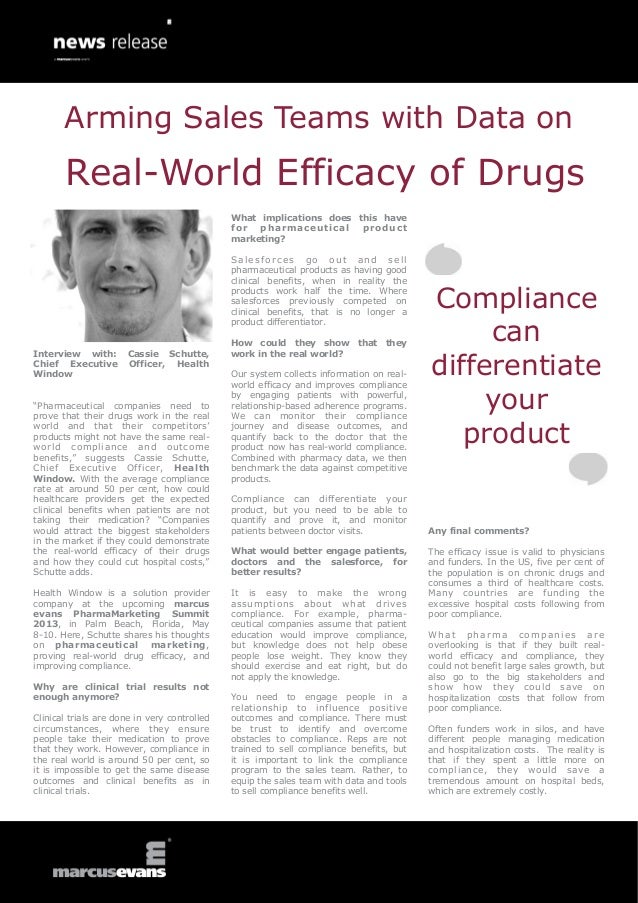 Arming Sales Teams with Data on Real-World Efficacy of Drugs - Cassie Schutte, Health Window