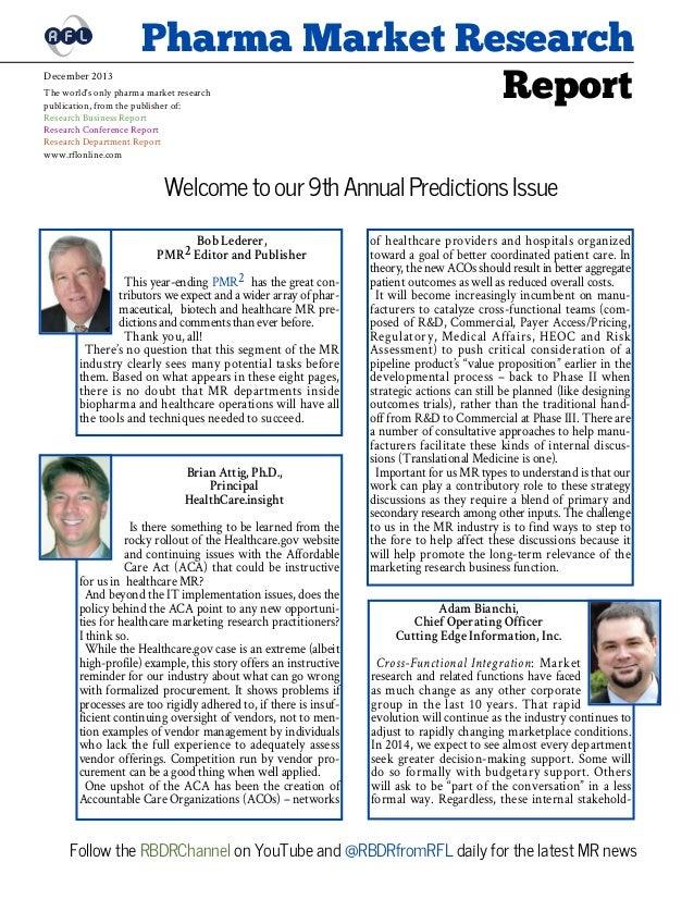 Pharma Market Research Report Dec 2013