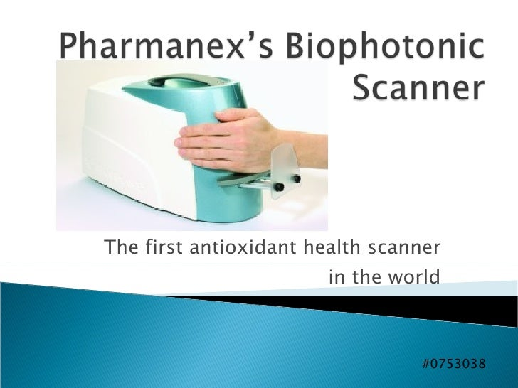 The first antioxidant health scanner in the world #0753038