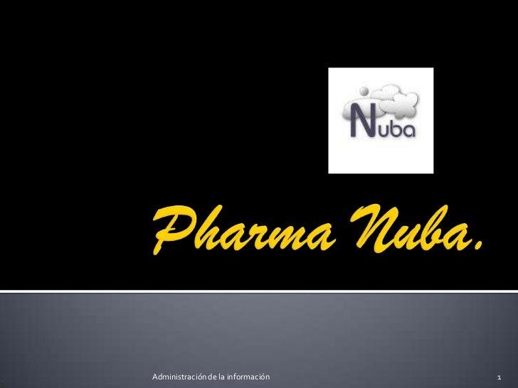 PharmaNuba.<br />1<br />Administración de la información<br />
