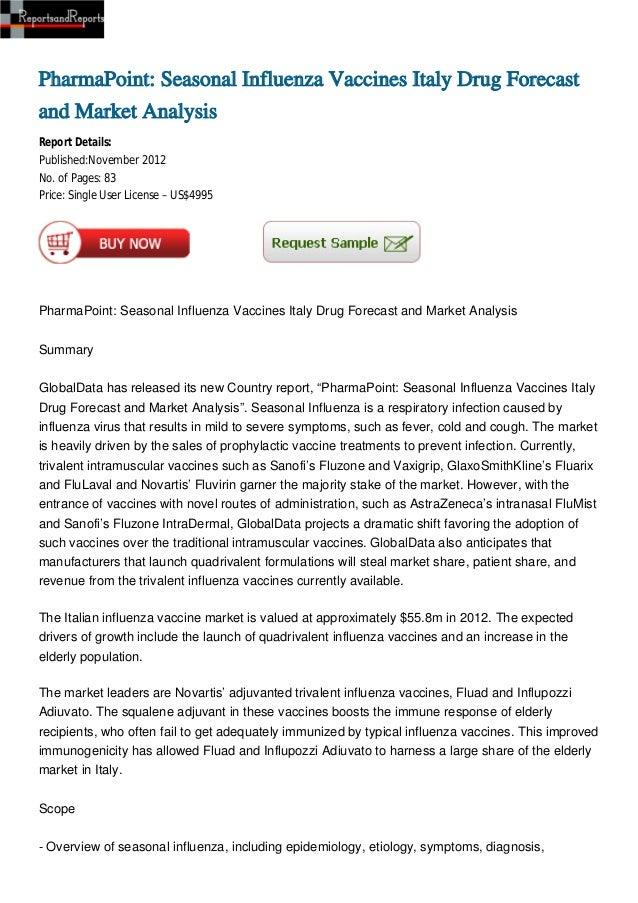 PharmaPoint: Seasonal Influenza Vaccines Italy Drug Forecast and Market Analysis
