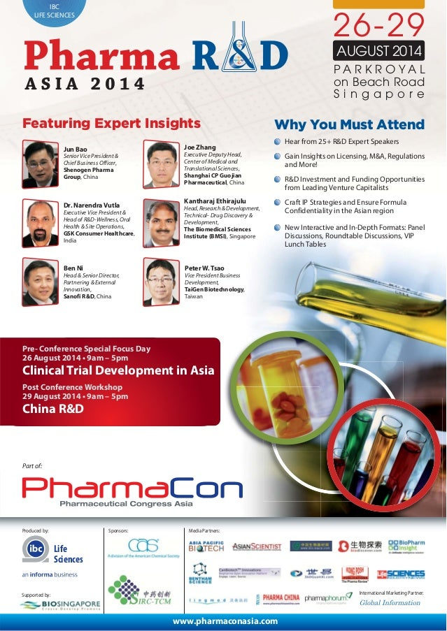 IBC LIFE SCIENCES Produced by: International Marketing Partner: Media Partners: 26-29 AUGUST 2014 S i n g a p o r e Featur...