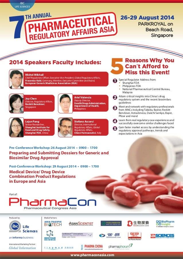 Pharmaceutical Regulatory Affairs Asia 2014