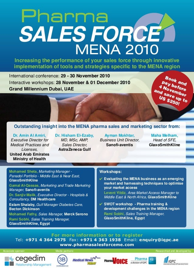 Pharma Sales Force MENA 2010