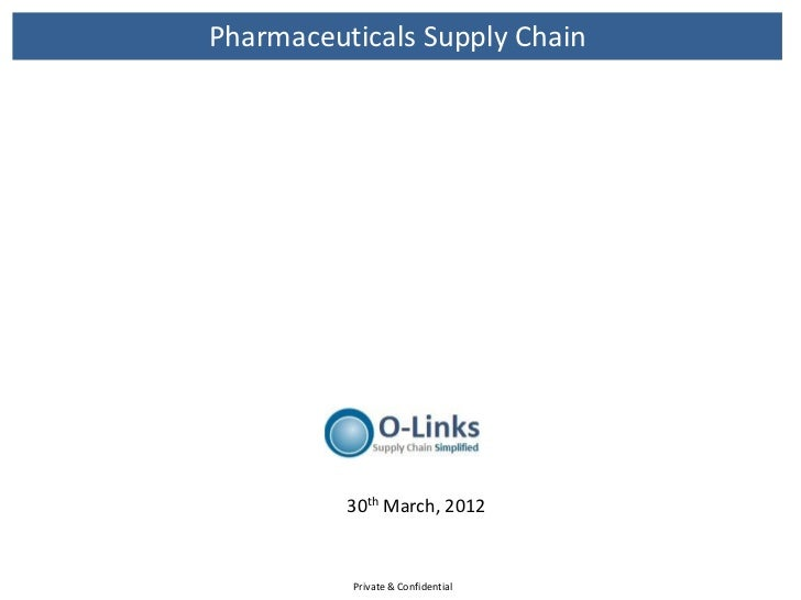 Pharmaceuticals Supply Chain          30th March, 2012          Private & Confidential