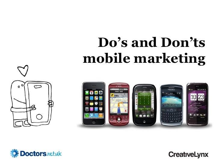 Do's and Don'tsmobile marketing