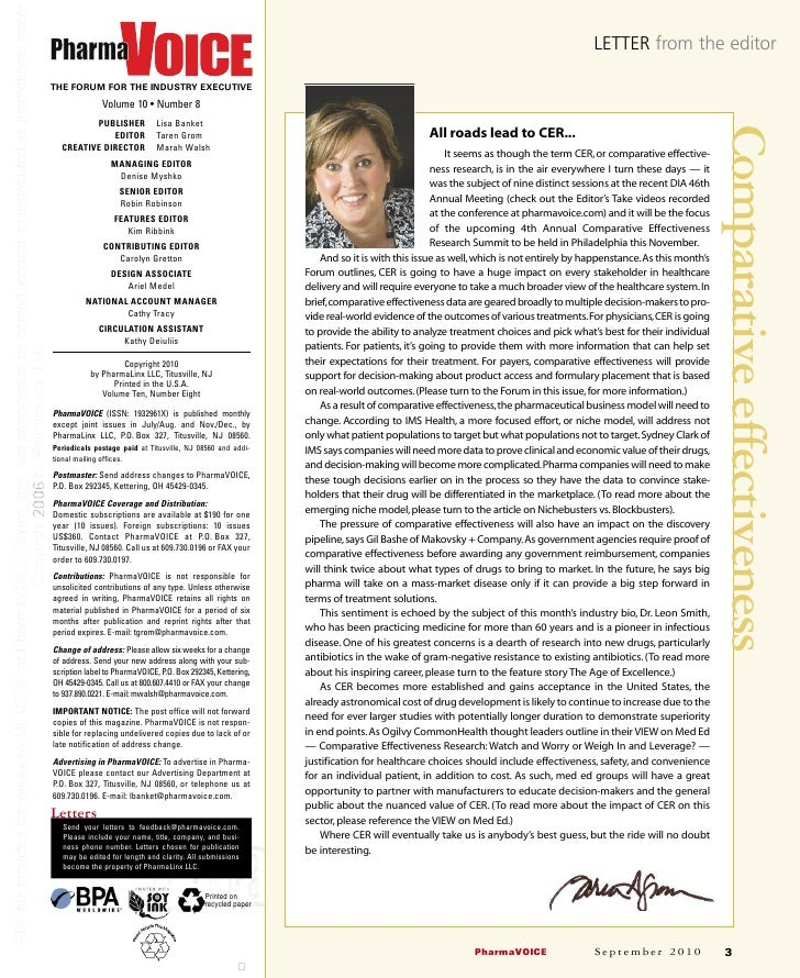 LETTER from the editor  THE FORUM FOR THE INDUSTRY EXECUTIVE               Volume 10 • Number 8          PUBLISHER        ...