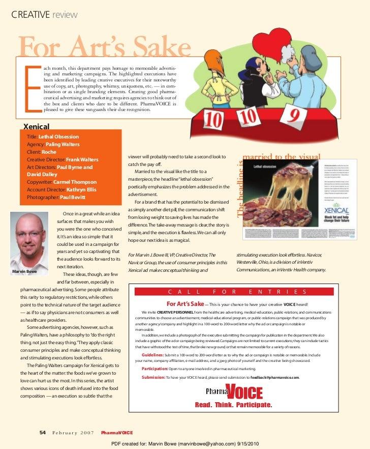 The Navicor Group, PharmaVOICE For Art's Sake review