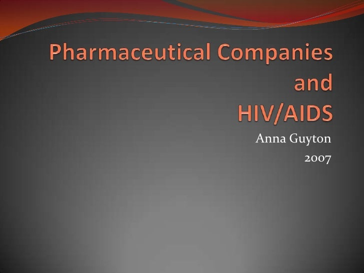 Pharmaceuticals and HIV/AIDS