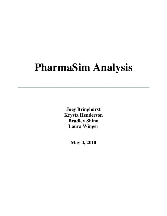 pharmasim simulation Marketing mba-565 project pharmasim pharmasim final simulation report the final report should describe your final results for all allround brands by category the written report must not exceed 15 double-spaced.