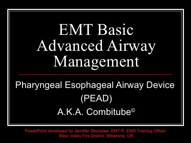 Pharyngeal esophageal airway device