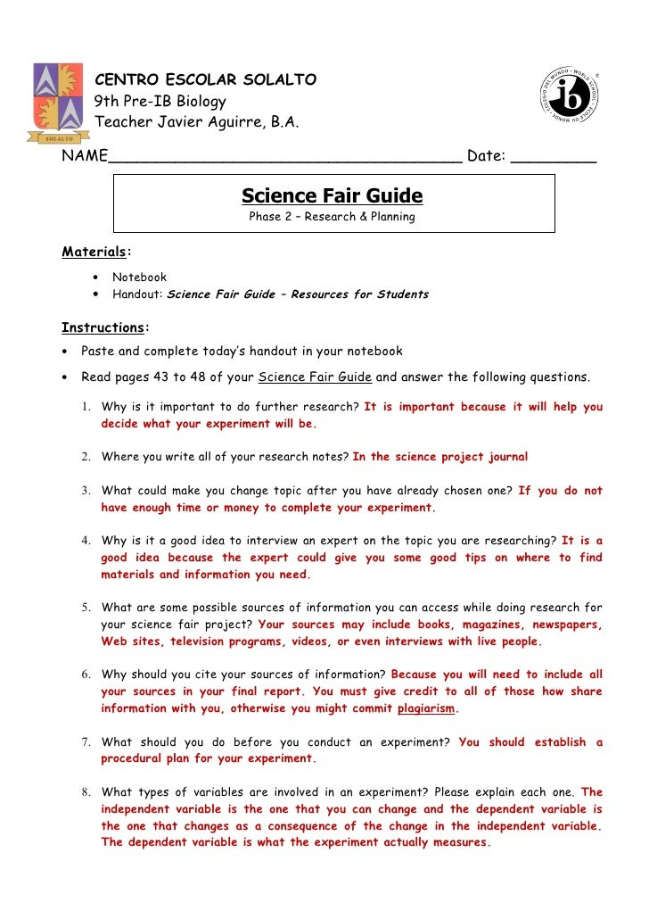 format writing science research paper