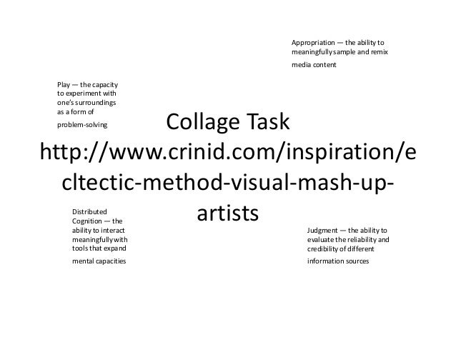 Appropriation — the ability to                           meaningfully sample and remix                           media con...