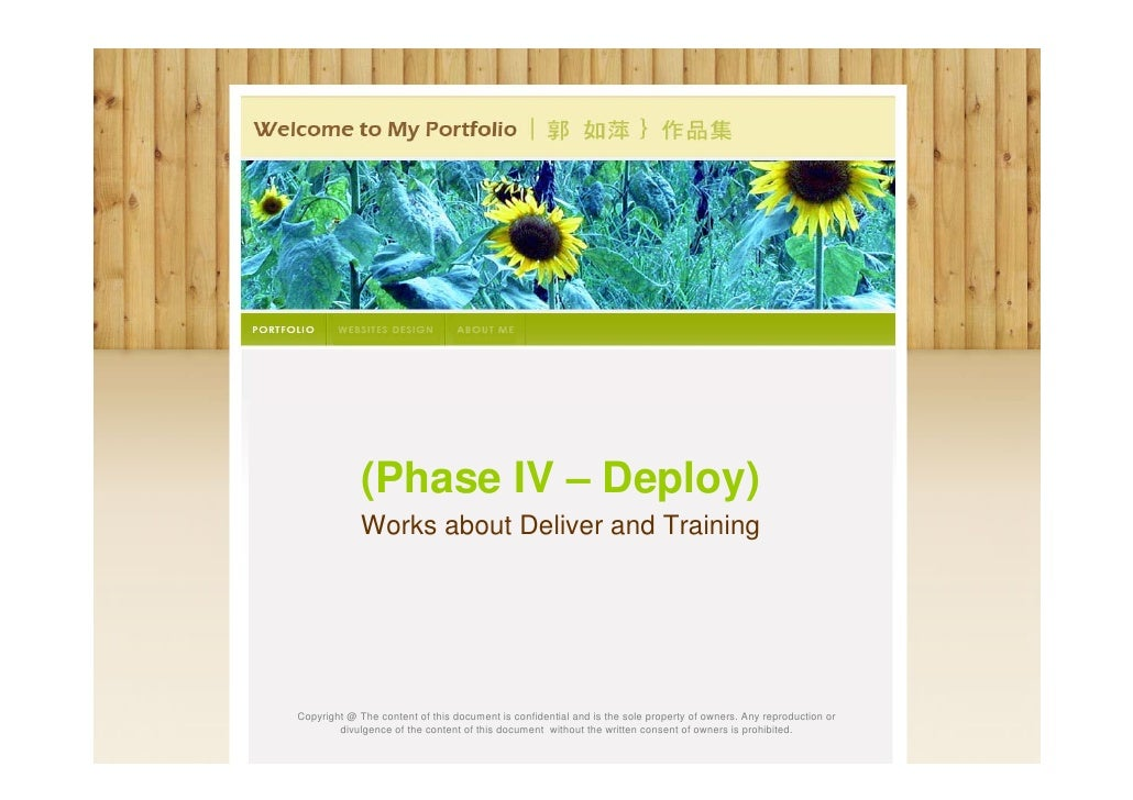 4.2 My Works About Deliver & Training