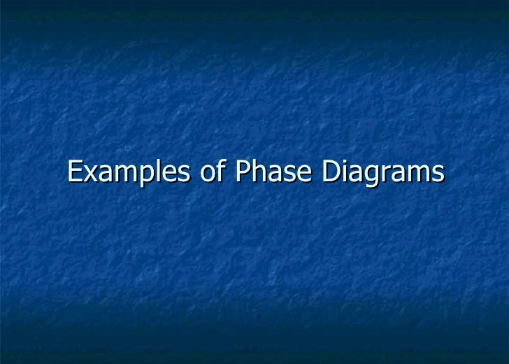 Examples of Phase Diagrams