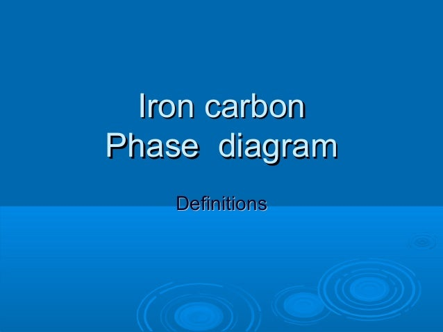 Iron carbonPhase diagram   Definitions