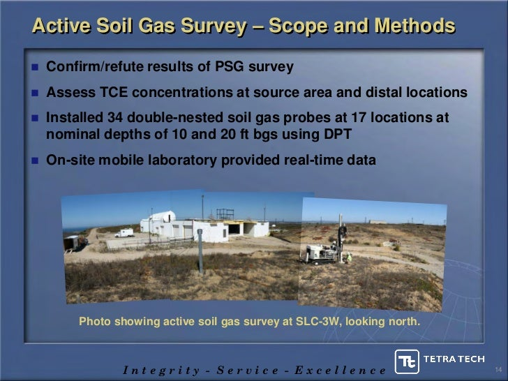 Soil Gas Probes Active Soil Gas Survey – Scope