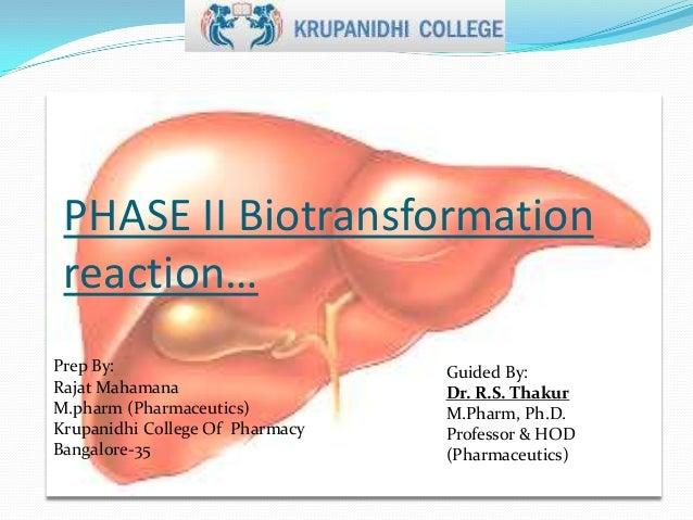 Phase ii biotransform of drugs