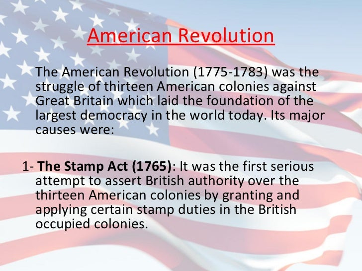 Democracy American Revolution American Revolution The