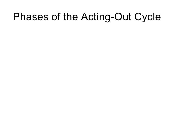 Phases of the Acting-Out Cycle