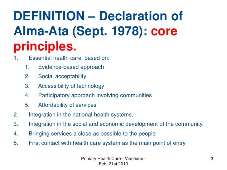 declaration of alma ata Alma-ata synonyms, alma-ata the campaign will focus on the specific objectives laid down in the alma-ata declaration of 1978 for the implementation of health for.