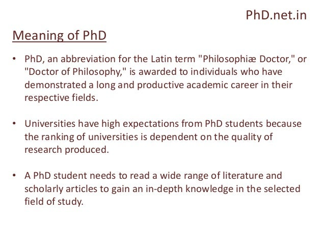Doctor of philosophy abbreviation