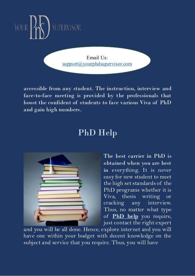 Phd help