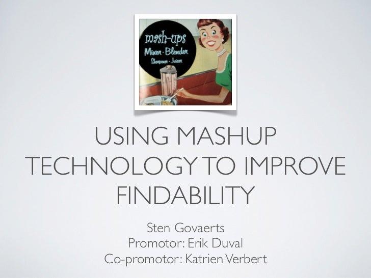 Using mashup technology to improve findability