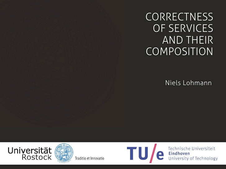 Correctness of services and their composition