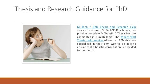 M.Tech - Ph.D Thesis Guidelines in India