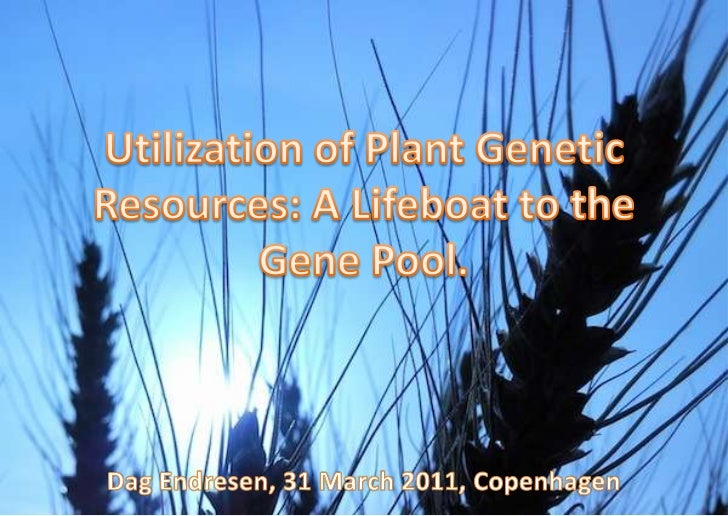 A Lifeboat to the gene pool, PhD defence, Copenhagen Univ (31 March 2011)
