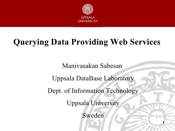 Ph d defense_Department of Information Technology, Uppsala University, Sweden