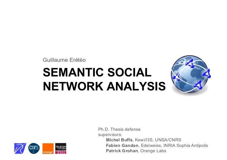 Ph.D. defense: semantic social network analysis