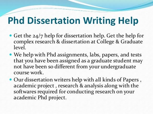 Phd dissertation assistance