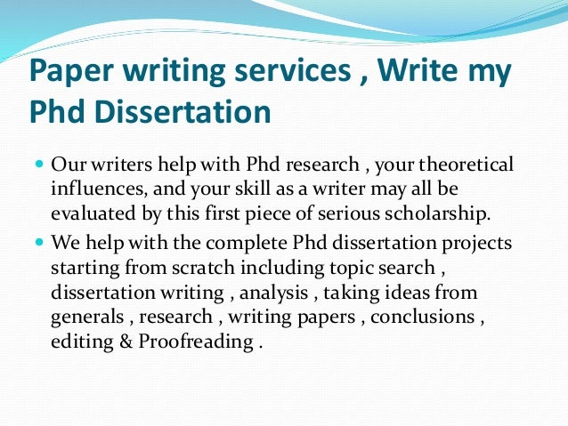 Phd dissertation assistance