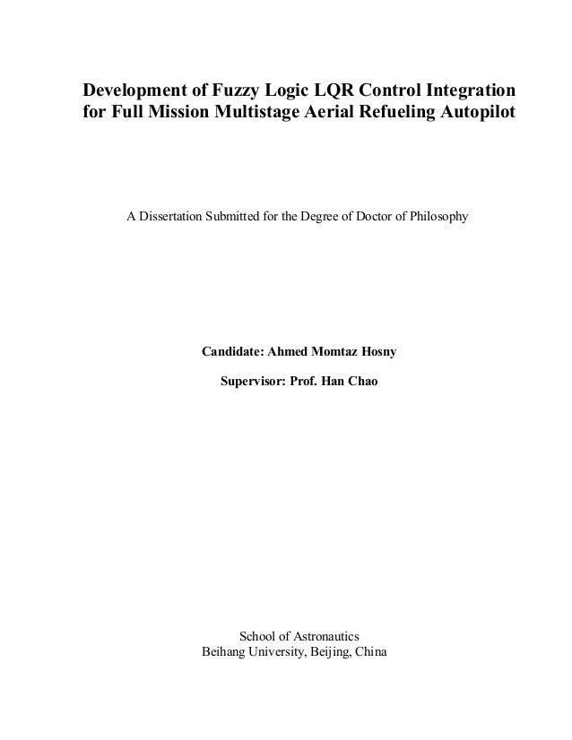 Fuzzy logic phd thesis