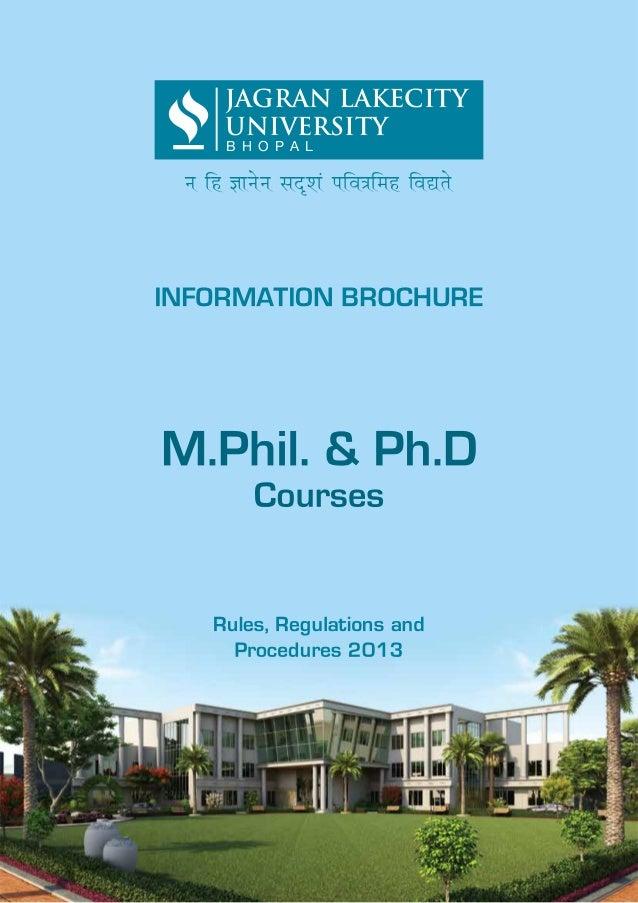 M.Phil/Phd information brochure