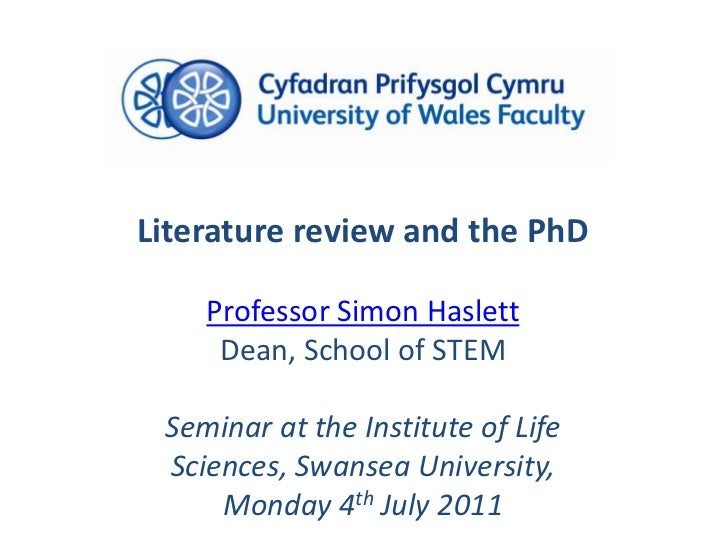 Literature review and the PhD