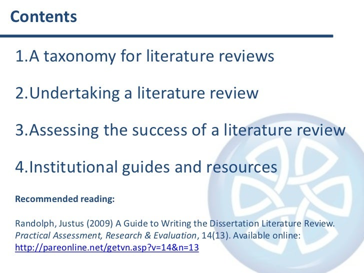 Doctorate literature review