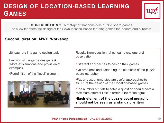 Dissertation games design