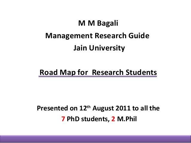 MM Bagali, HR, HRM, HRD, Phd road map 2011