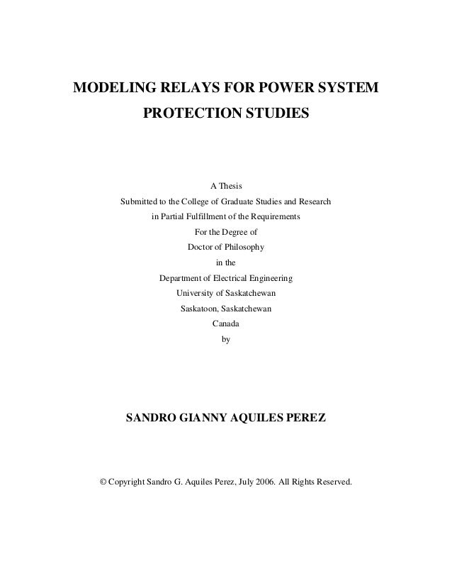thesis on power system engineering