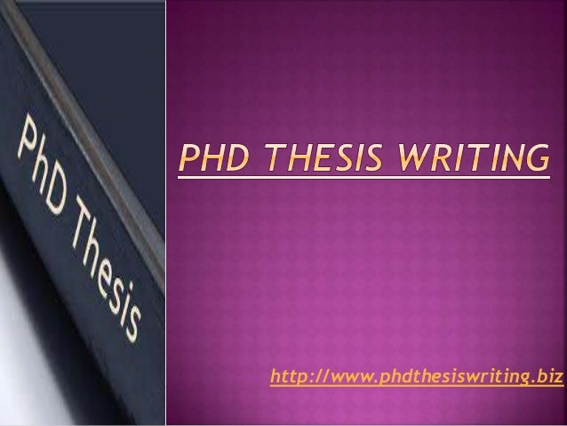 Phd Doctoral Thesis