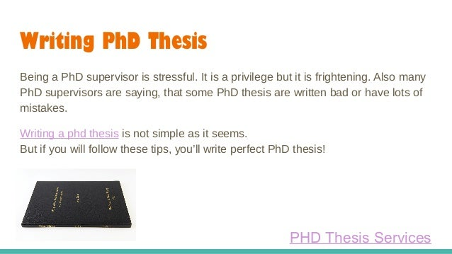 phd thesis supervisor Finding a thesis supervisor finding a thesis advisor that is a good match in terms of interests, style, and temperament should be the student's top priority from the moment of arrival, if not earlier as a result of the popularity of infosys among students, there are many more graduate students in infosys than can be supervised.
