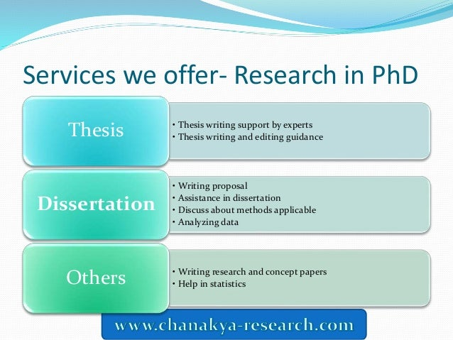 Choose No. 1 dissertation writing service