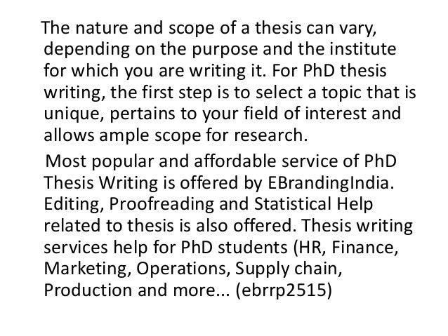 Phd thesis writing services uk