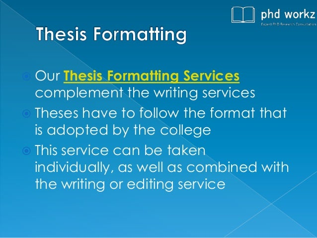 Phd thesis writing styles