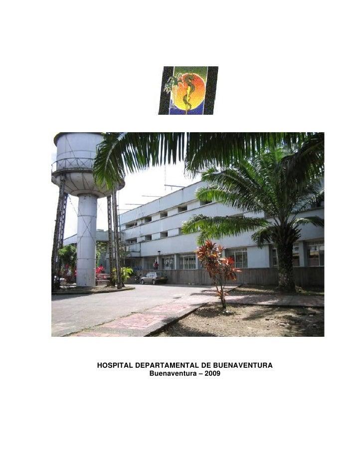 Plan Hospitalario para Emergencias del Hospital de Buenaventura, a diciembre de 2009