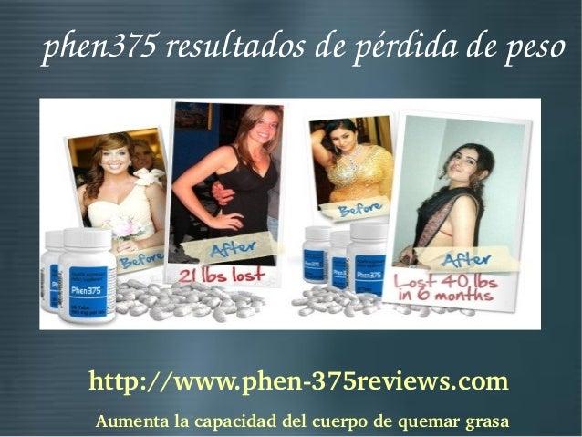 Phen375 resultados de pérdida de peso